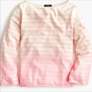 NWT J. Crew Crewneck sweater in dip-dye stripe